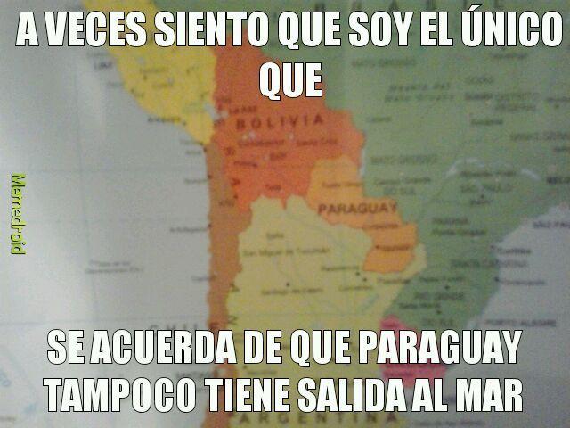 De hecho está más lejos del mar que Bolivia - meme