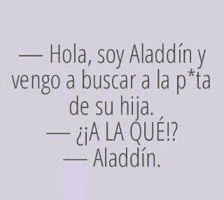 Aladdín - meme