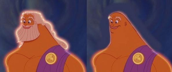 Zeus dans Hercule. (Dessins animés.) - meme