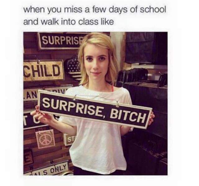 back to school - meme