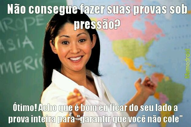 Professora mancona :/ - meme