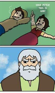 Peter,Heidi,Weed & God - meme