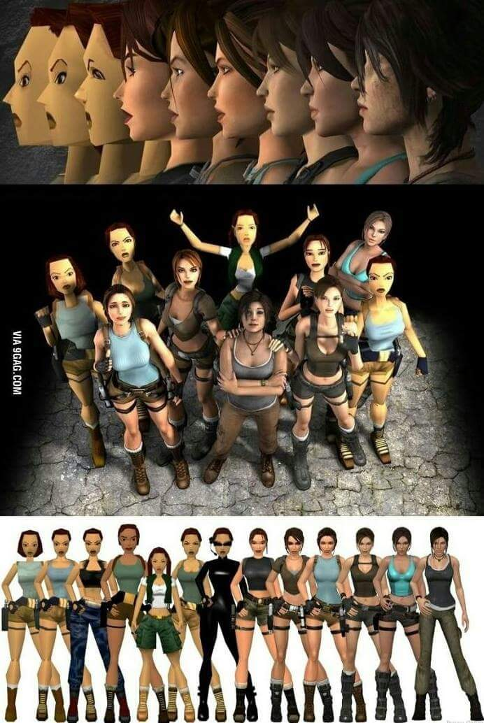 Lara Croft *-* - meme