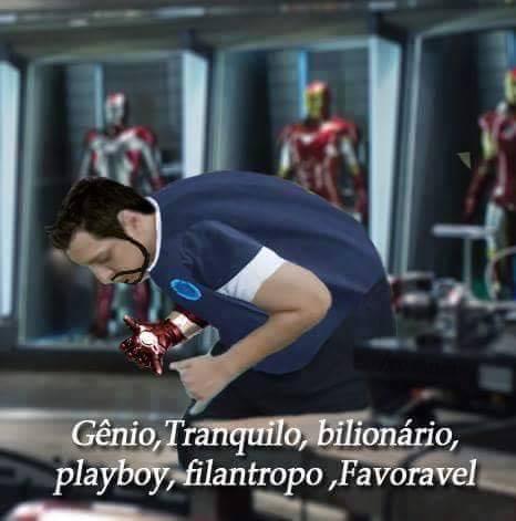 Tony Stark tranquilo e favorável - meme