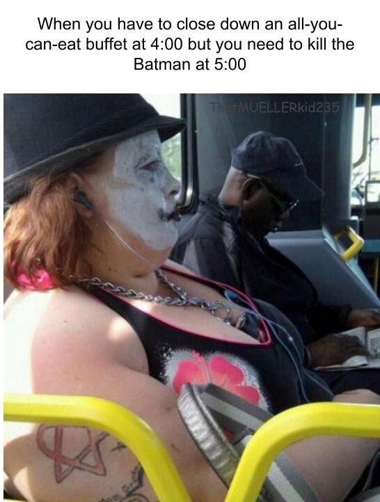 we eat the batman - meme