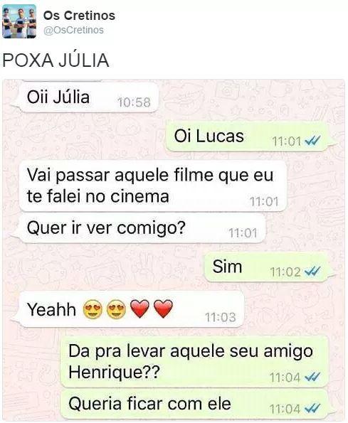 Carai Júlia - meme