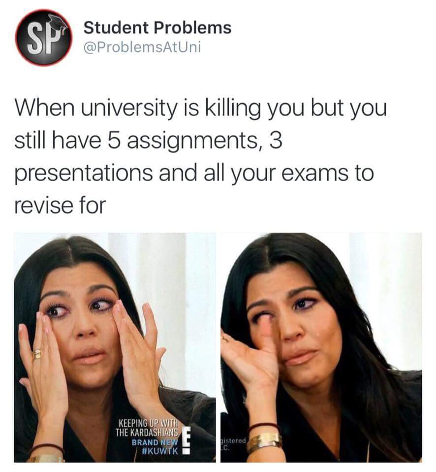 Just the University life... - meme
