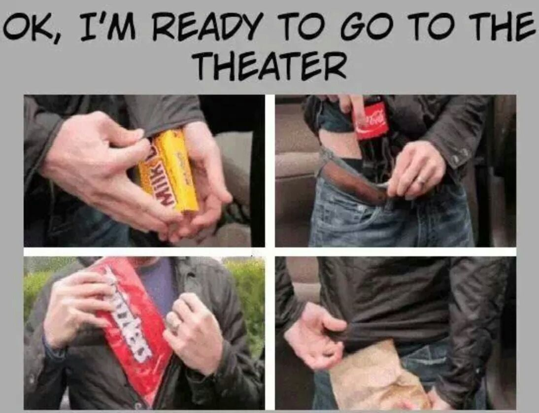 Ready for the theatre! - meme