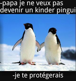 Kinder pinguin - meme