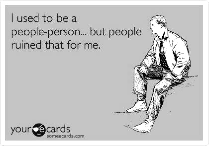 Not a people person - meme