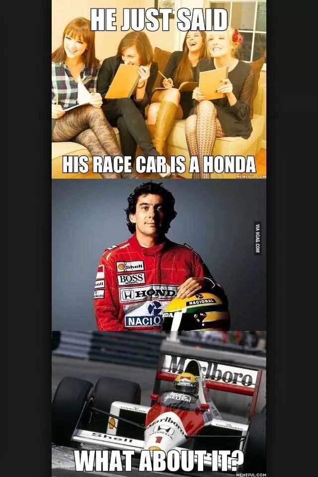 Senna the legend - meme
