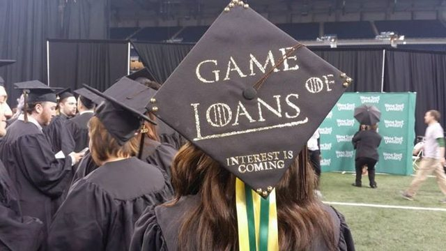 A graduate always pays their debts - meme