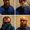 Rasoir, serviette, et une coupe de cheveux.