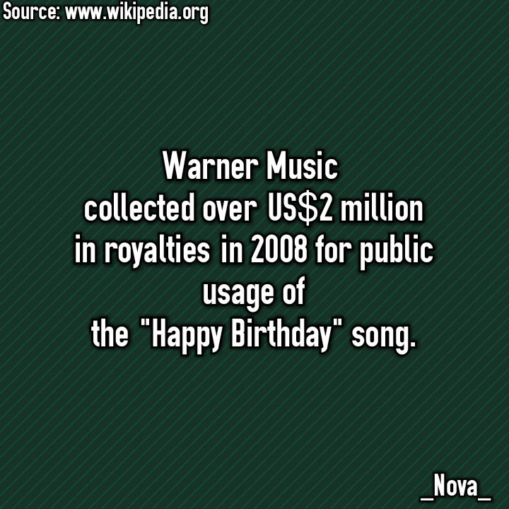 Happy Birthday! Oh no... now I gotta pay Warner Music. - meme
