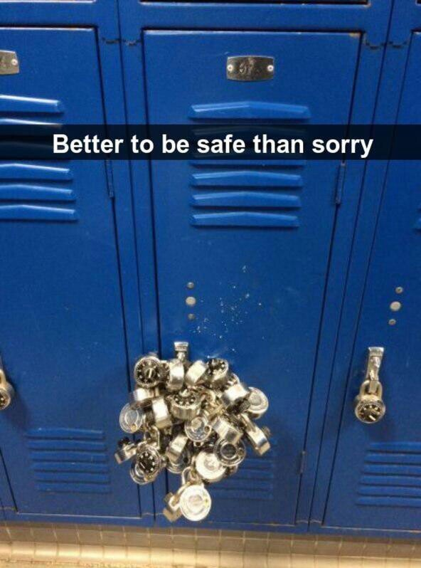 Better to be safe than sorry - meme