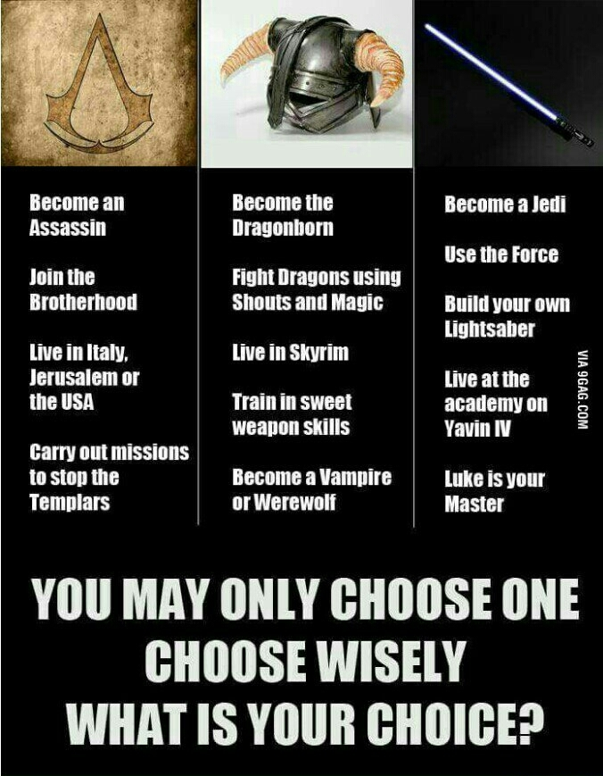 What would you pick? I would pick Assassin. - meme