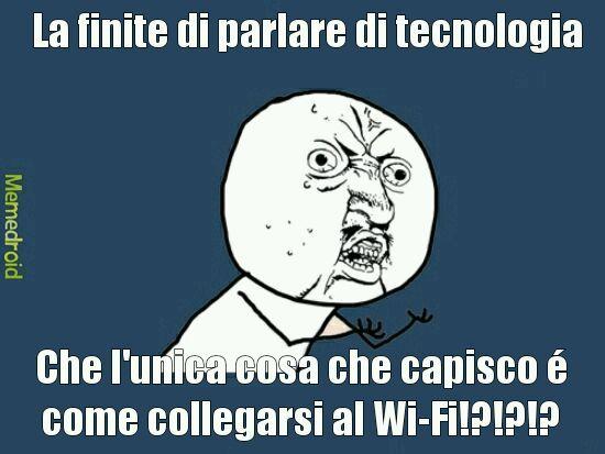 Basta tecnologia - meme