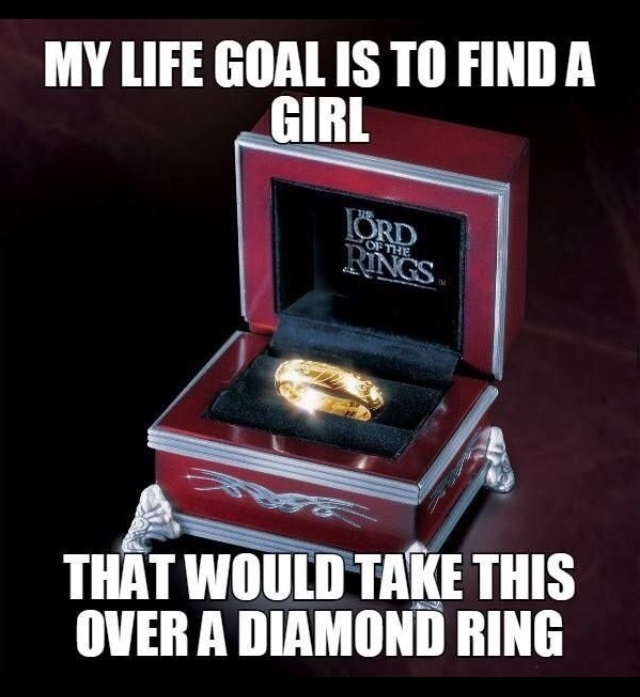 the one ring. - meme