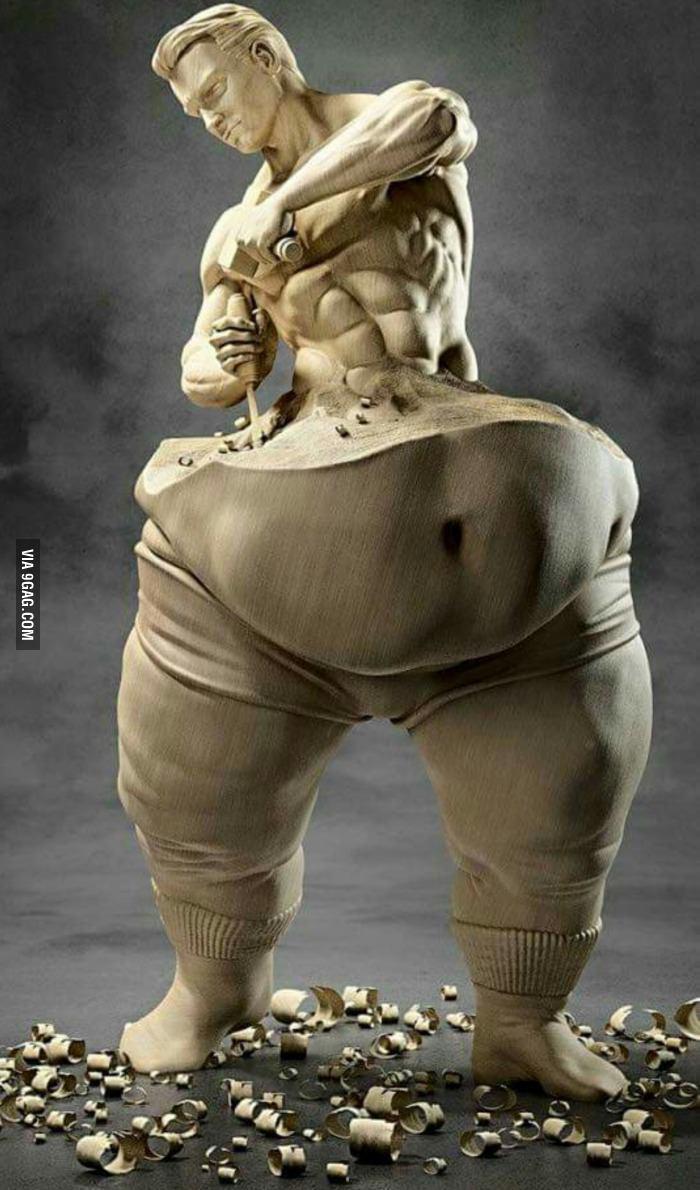 Sculpture d'un corps de rêve - meme