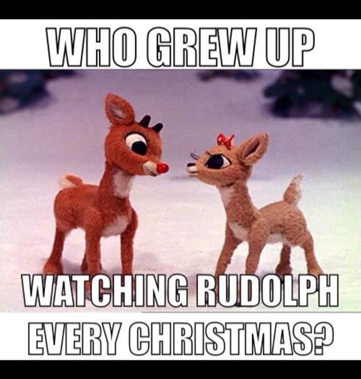 Rudolph the red nose reindeer had a very shiny nose.. - meme