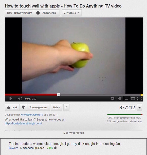 How to touch wall with Apple - meme