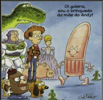 A mãe do Andy tambem tem brinquedos... - meme