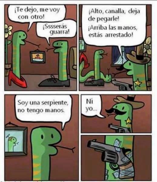 Una historia de serpientes - meme
