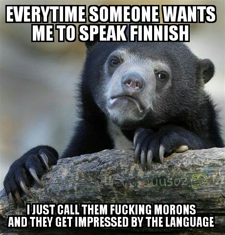 Things get slightly awkward when they ask what it means in english - meme