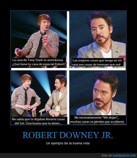 Robert downey un ejemplo de vida - meme