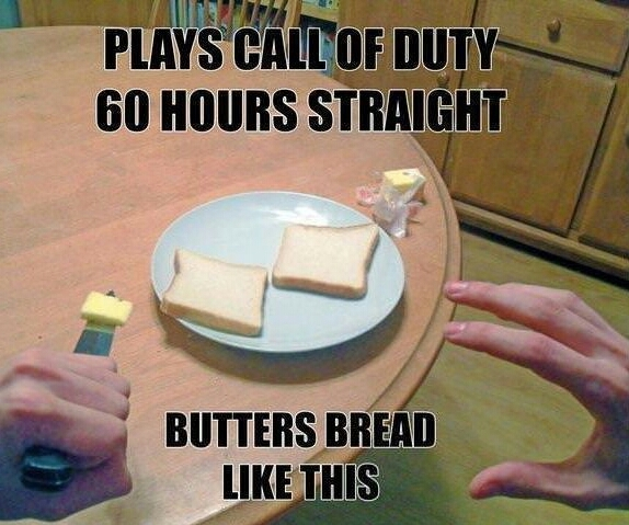Cod addicts be like - meme
