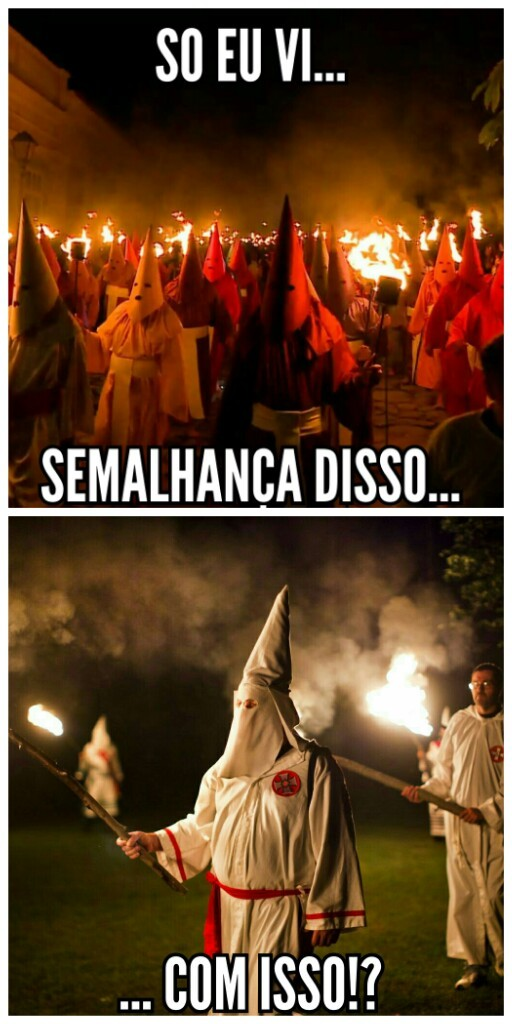KKK nos dias de hj - meme