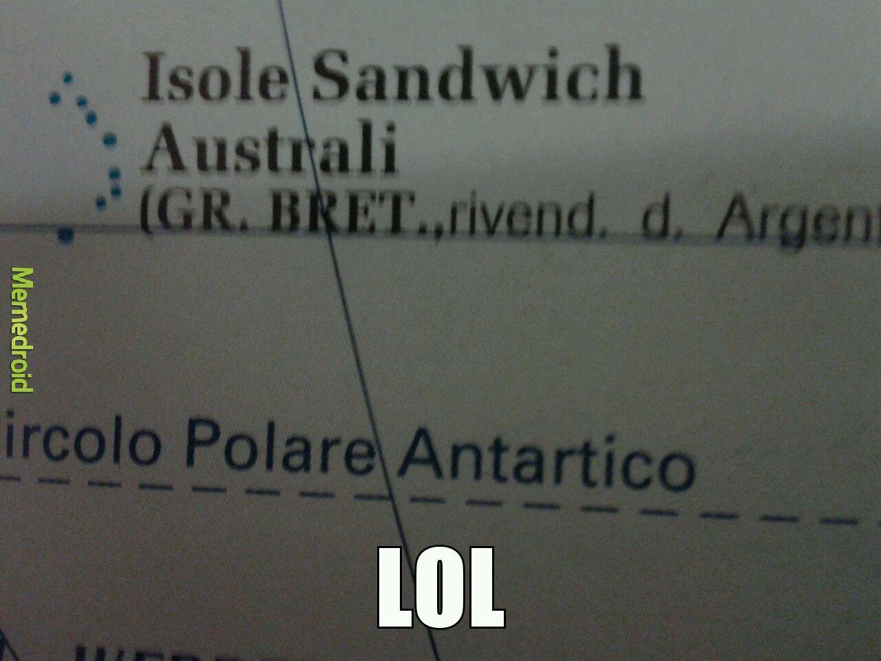 Isola panino - meme
