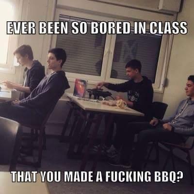 Bro last week in class - meme