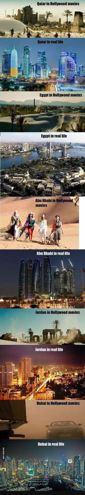 Hollywood vs. reality - meme
