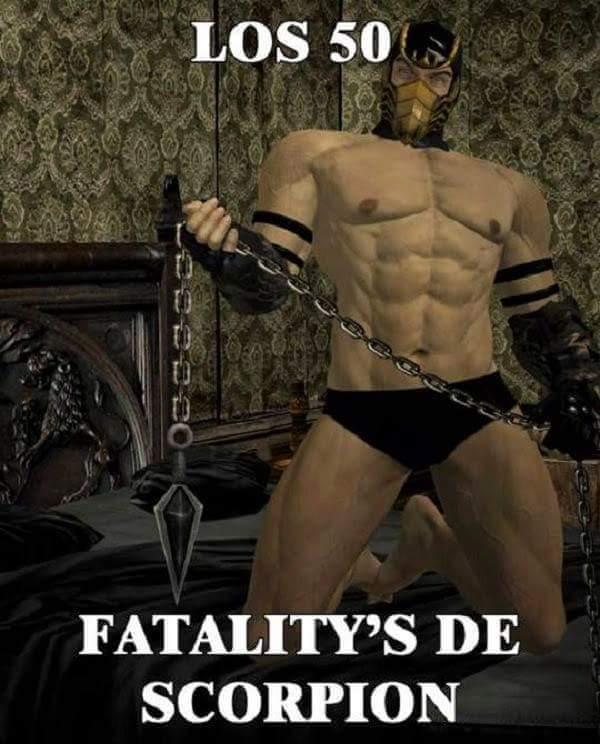50 Fatalitys de Scorpion - meme