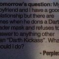 Darth kickass...