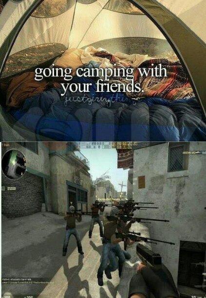 Camping - meme