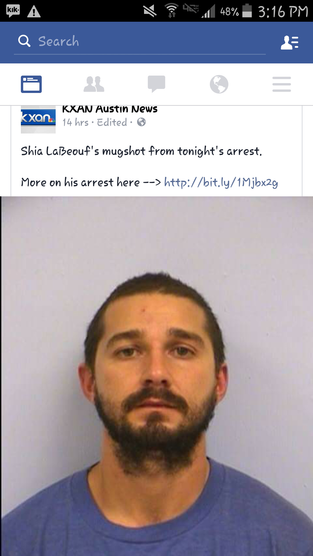 "Cop ""sir I'm putting you under arrest."" Shia ""JUST DO IT!!!"" - meme"