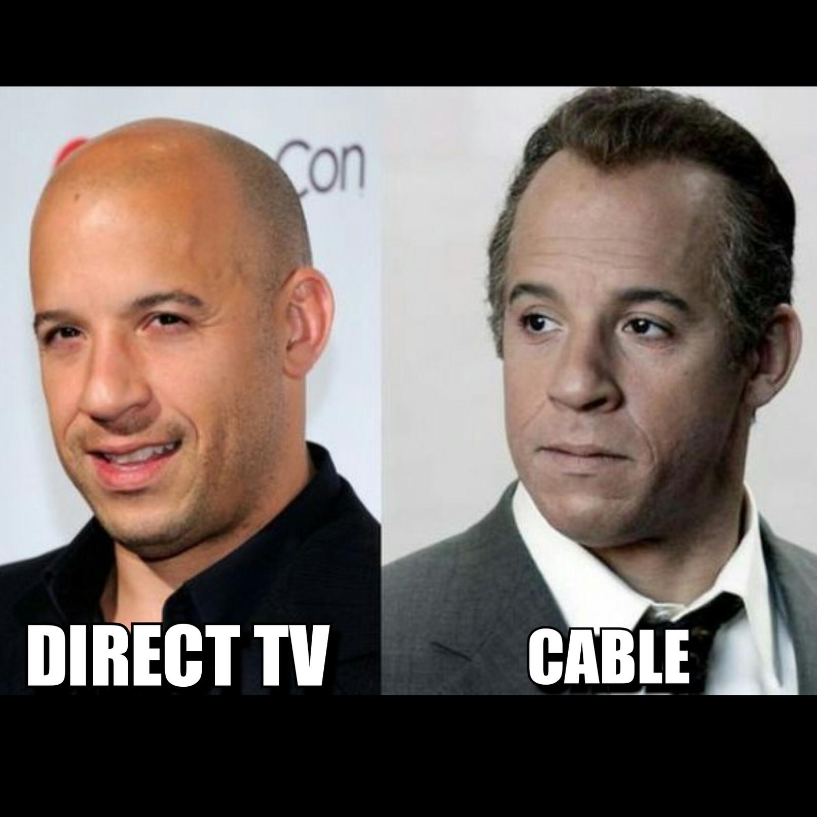 Vin diesel has a twin. - meme