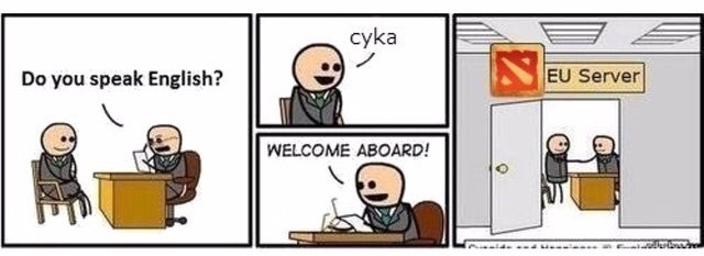 Eu west or western Russia server - meme