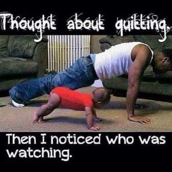 Never quit! - meme