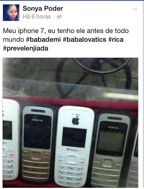 Iphone 7 da Nokia - meme
