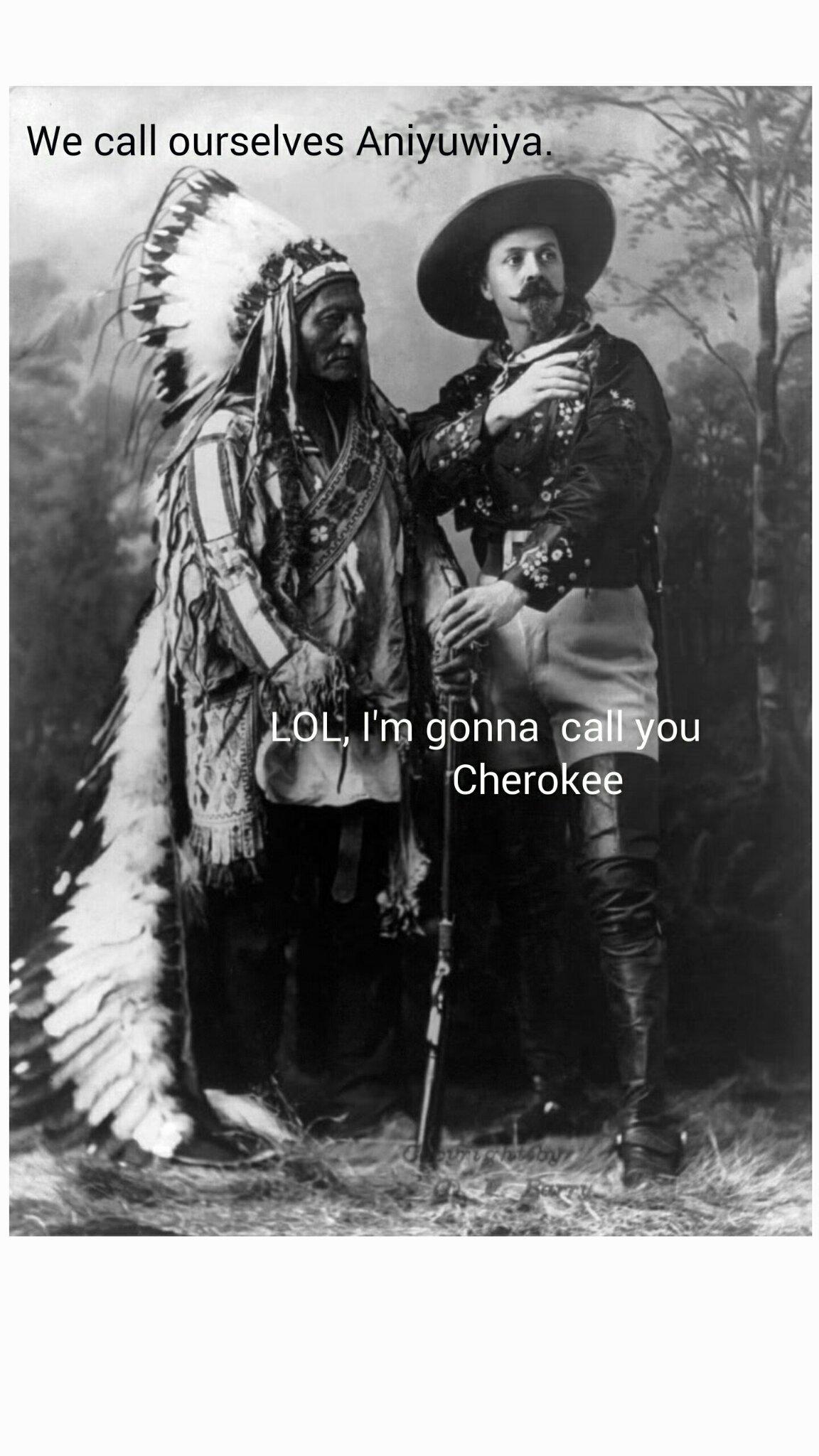 Oh, you call yourselves Nehiyawak, I'm gonna call you Cree - meme