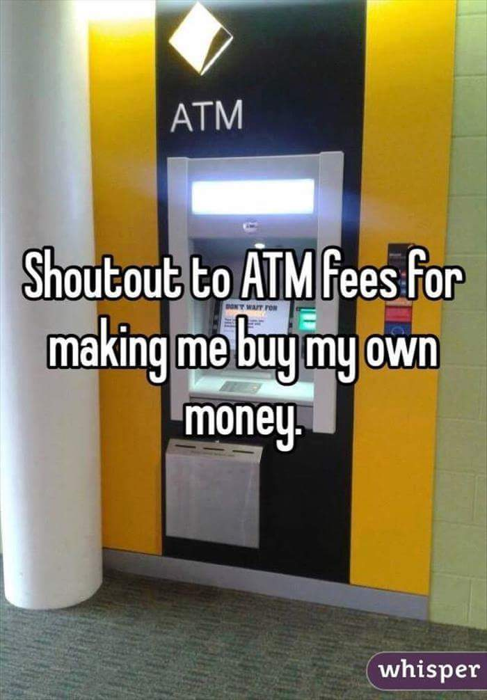 ATM fees are stupid - meme