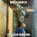 when your gf is taller than you