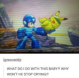 Mega Man isn't a Mega Babysitter - meme