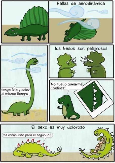 las desventajas de ser un dinosaurio - meme