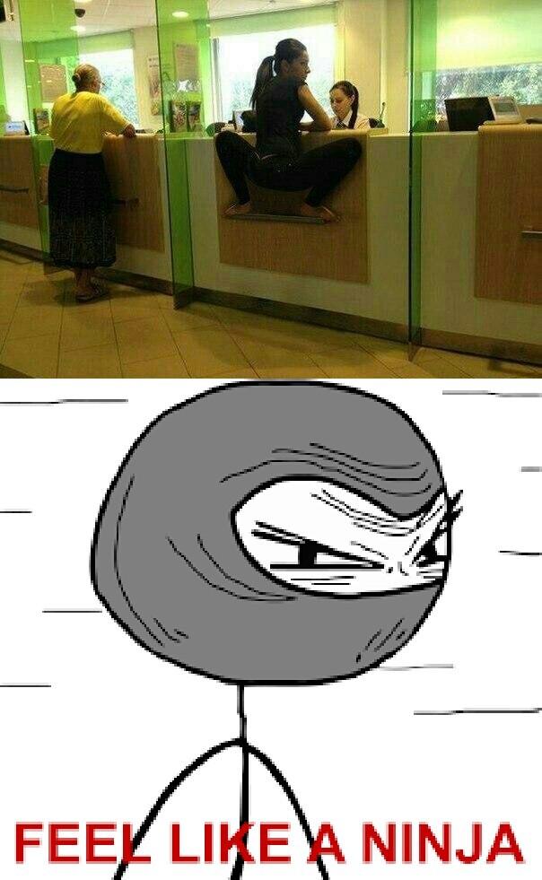 Like a ninja - meme