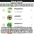 I've been on memedroid tbrough 4 different  #1's and we always eventually hate them