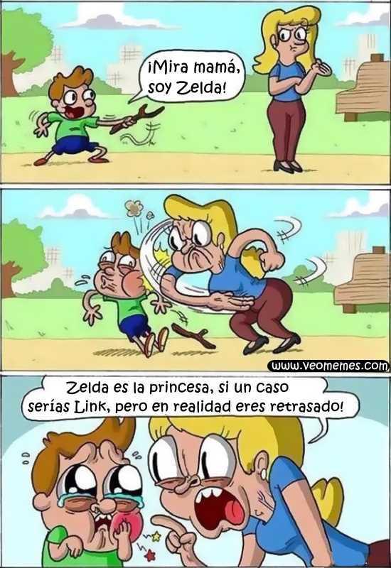 Zelda...     (sigueme y te sigo) - meme